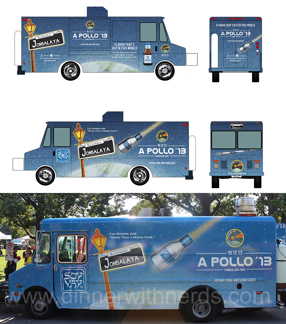 Jonbalaya food truck wrap