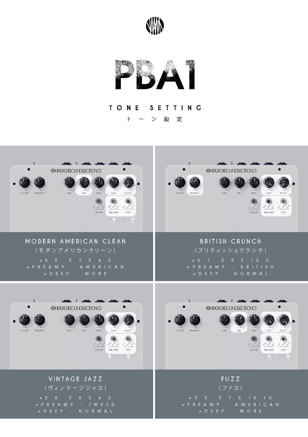 PBA1 - Tone Setting
