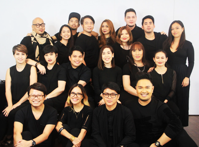 The MAC makeup team for the pageant