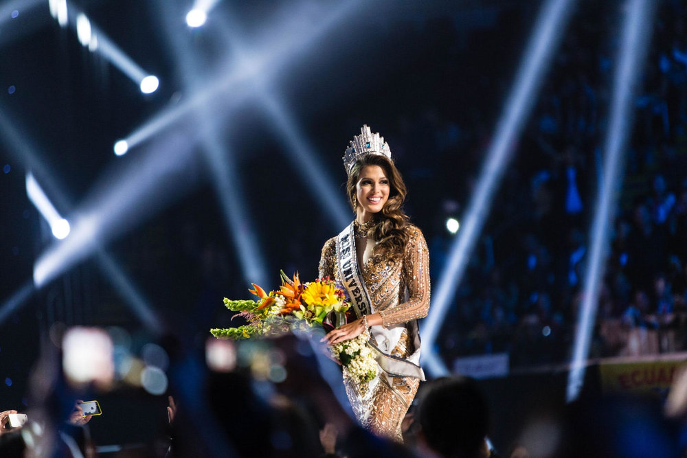 The 65th Miss Universe, Iris Mittenaere from France's first walk.