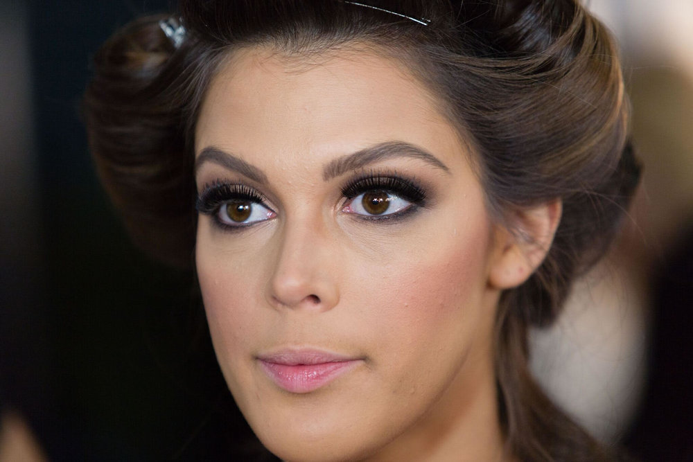 The 65th Miss Universe, Iris Mittenaere from France, preparing for the competition.