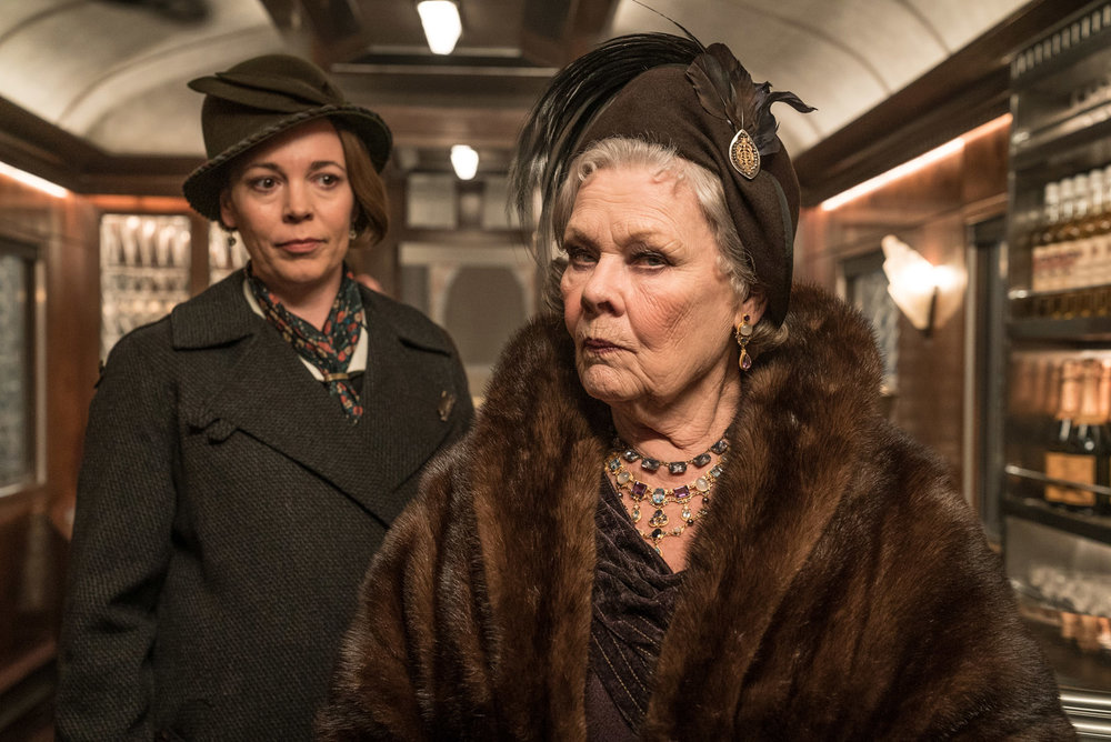Olivia Colman and Judi Dench in Murder on the Orient Express, 20th Century Fox