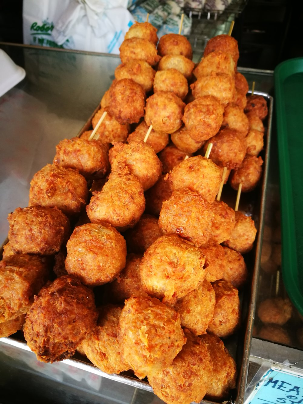 Fried meatballs at Roberto's are an option aside from their popular Queen siopao.