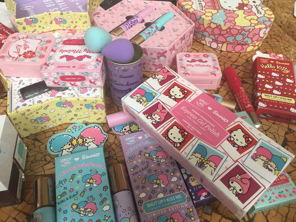Our Happy Skin Sanrio stash!