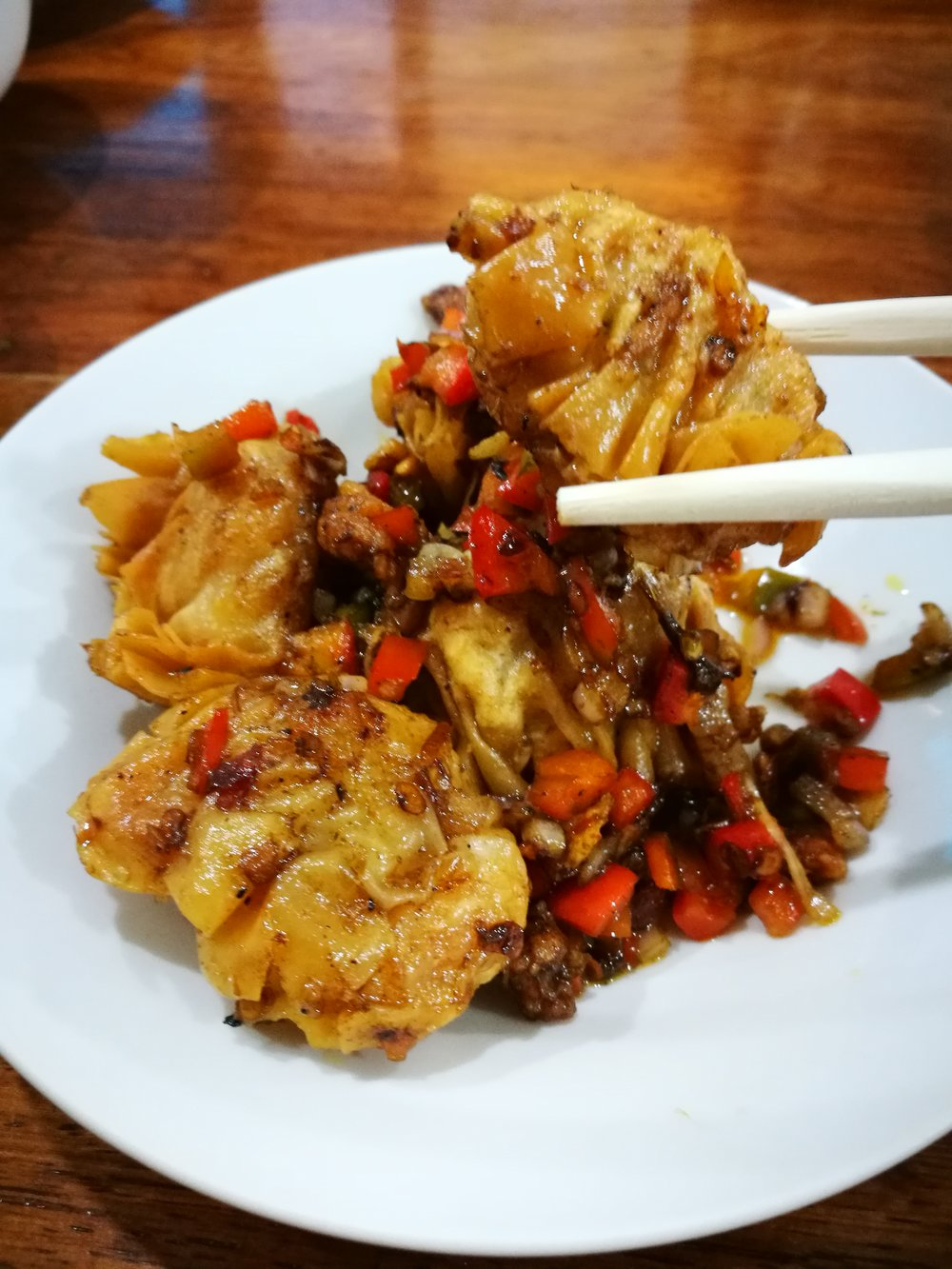 Spicy fried dumplings at Caitlyn's Dimsum
