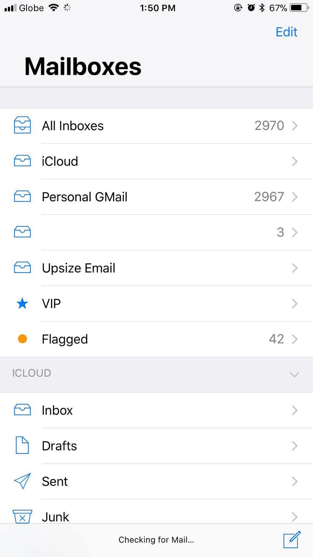 Mailbox on iOS 11