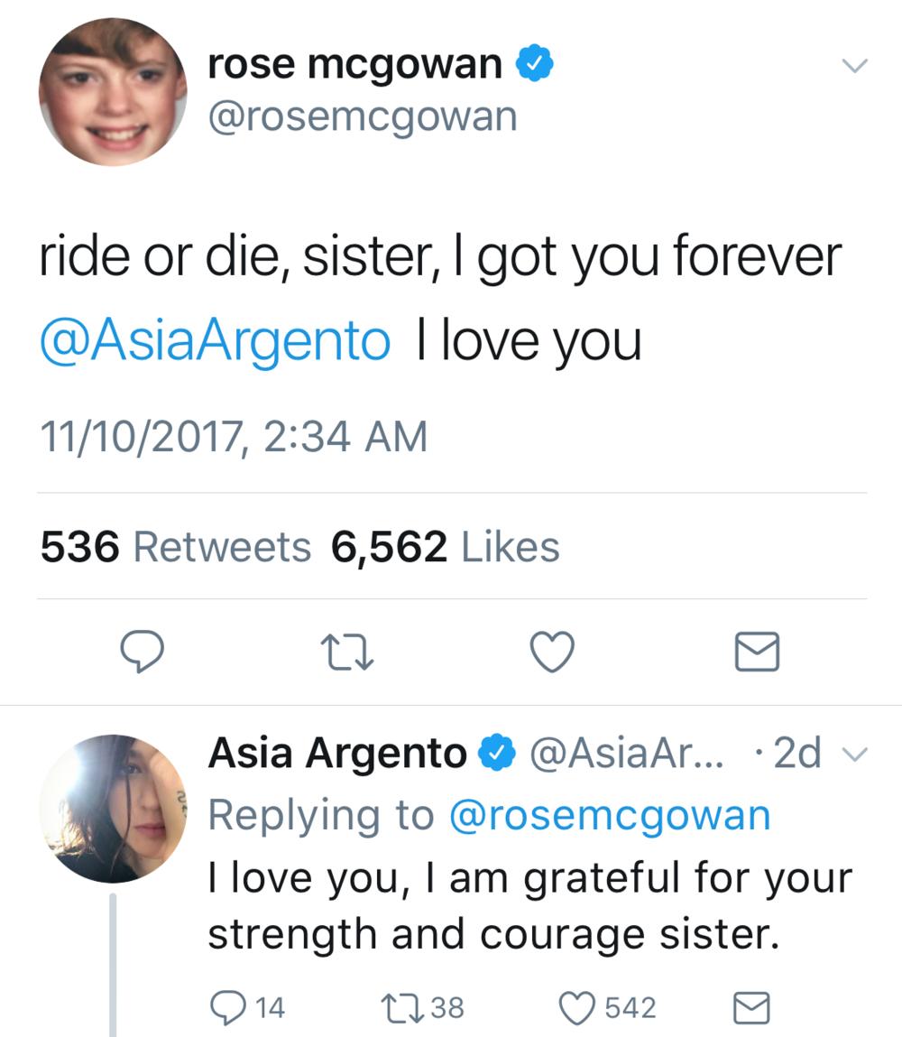 Rose McGowan / Twitter