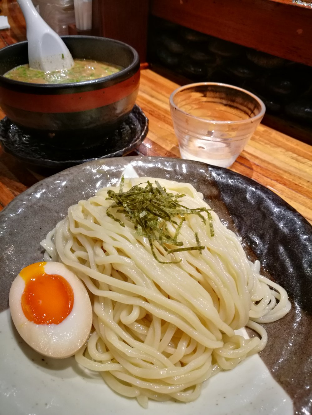 Tsukemen are noodles one dips into a savory sauce served separately.