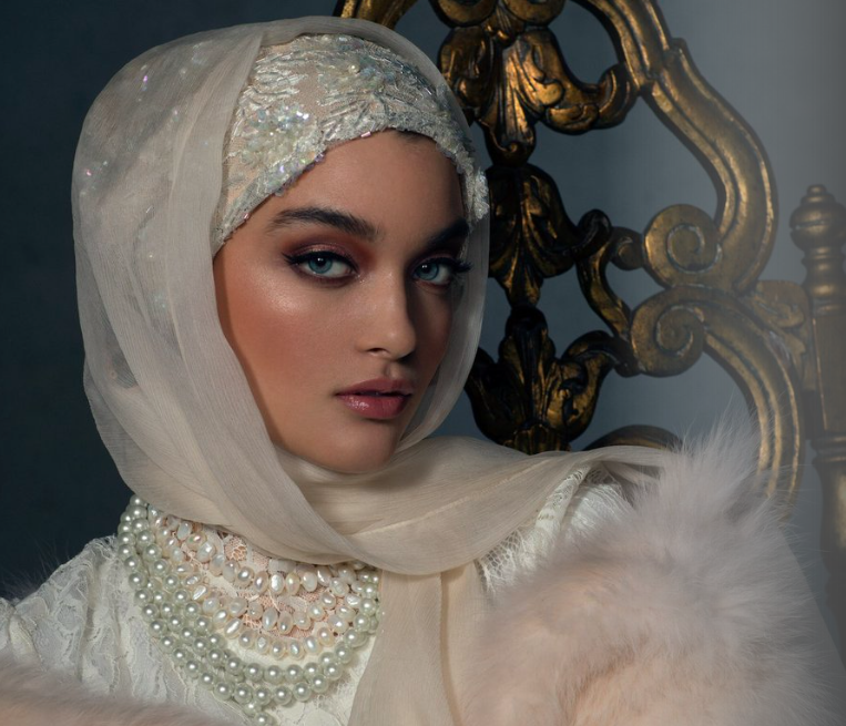 Haute Hijab    Luxury Collection in The Ethereal Ivory, USD 300
