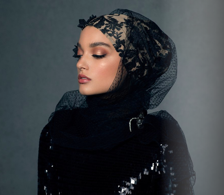 Haute Hijab    Luxury Collection in The Black Tie Lace, USD 280