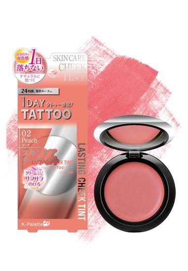 K-Palette 1 Day Tattoo Lasting Cheek Tint in Peach