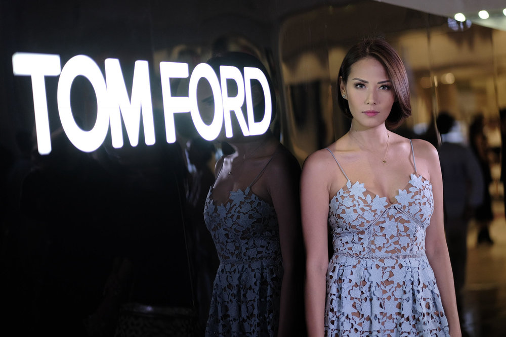 Bianca Manalo at the Tom Ford Beauty store opening