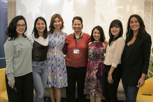 """Empowered women team up to raise awareness and educate the community to help break barriers that discourage women today from entering or pursuing a career in STEM.    L-R: She Talks Asia Co-Founder and Head of Branding and Partnerships, Victoria Herrera; Country Lead of Bumble Philippines, Alex Suarez; Rheumatalogist and Founder of the Lupus Bridging Fund, Dr. Geraldine Zamora; Physicist at the National Institute of Physics at the University of the Philippines, Dr. Maricor """"Jing"""" Soriano; L'Oreal Philippines Corporate Communications Manager, Carmel Valencia; She Talks Asia Co-Founder and Chief Operating Officer, Lynn Pinugu and She Talks Asia Co-Founder and Head of Public Relations, Iza Calzado."""