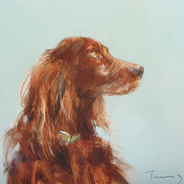 Dog commission example  Oil on gesso, 22x22cm £POA
