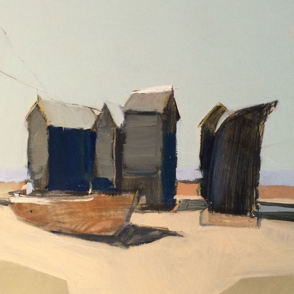Fishing Boat, Hastings  Oil on gesso, 22x22cm SOLD