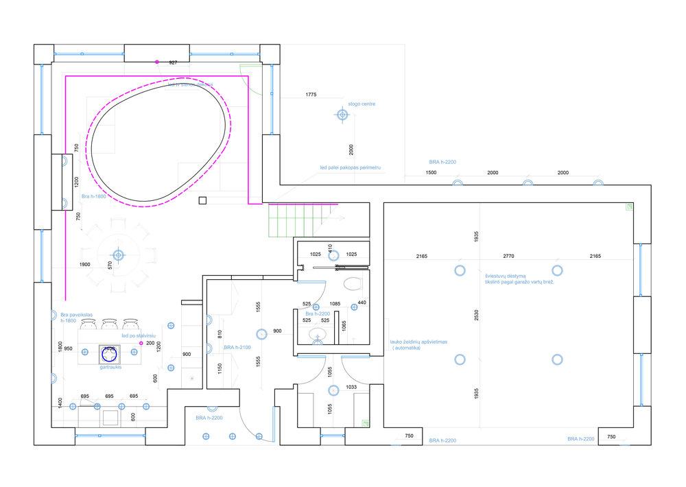 interjero-techninis-planas