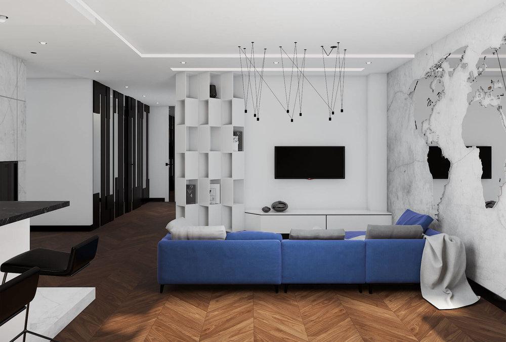 Modernaus interjero butas Vilniuje
