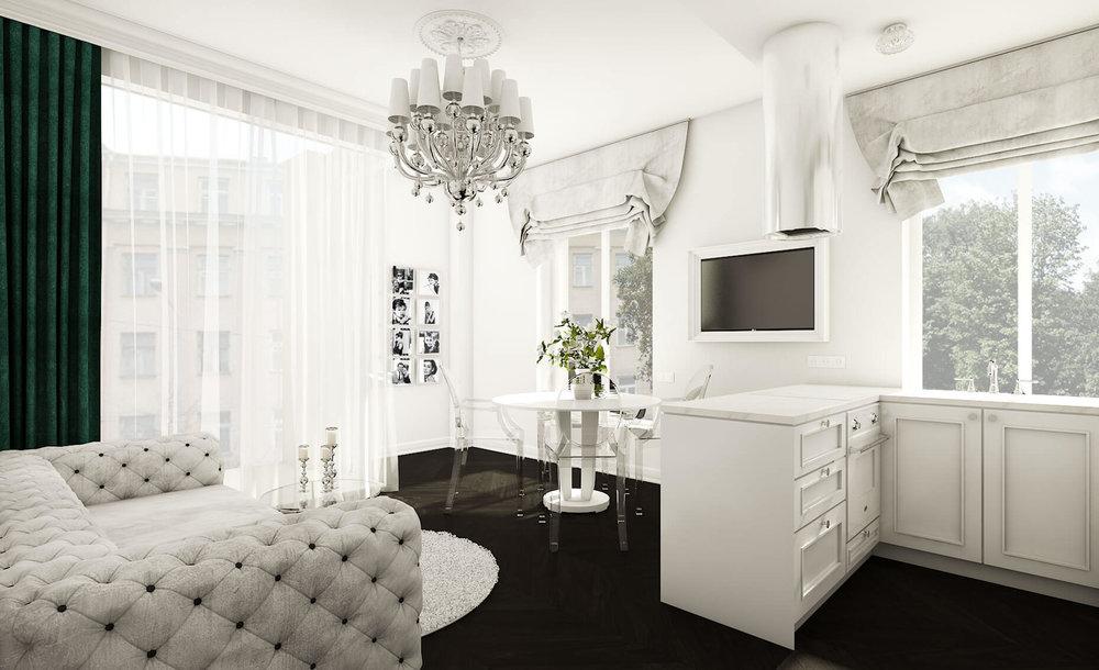 Klasikinio interjero butas Vilniuje