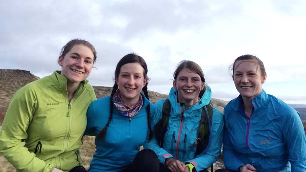Lisa, Libby, Bodil, and Ali - Beauties and the Bog!