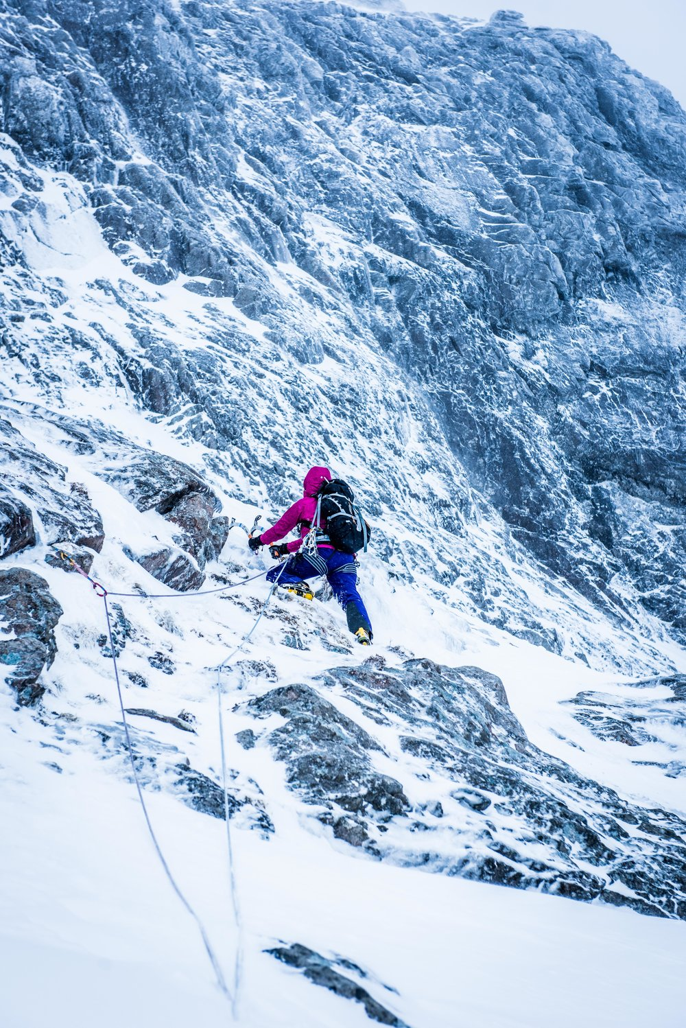"Ronnie in action, ""Climbing and mountaineering, that's my main thing.""  Photo:  Michal Dziwoski"