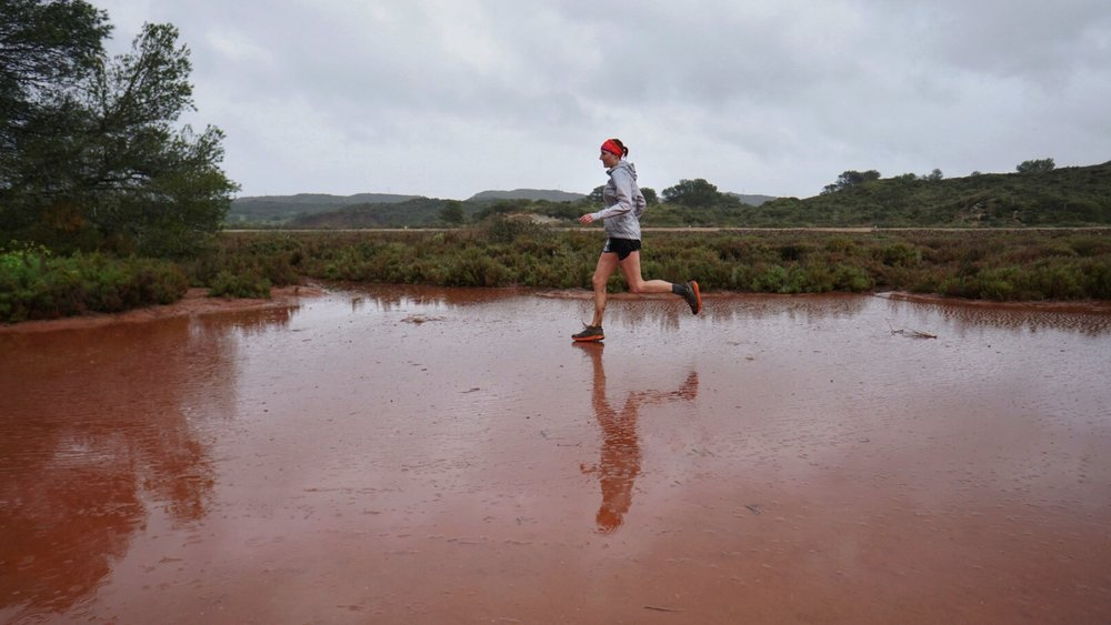 Staying dry through torrential rain and flooded trails at the Cami de Cavalls 360 three day trail race in Menorca