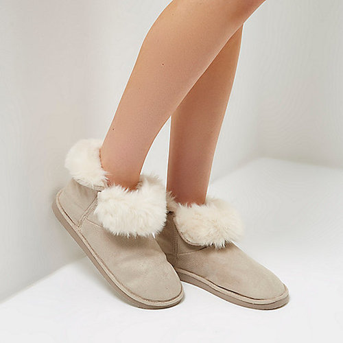 River Island Slipper Boots £20.00