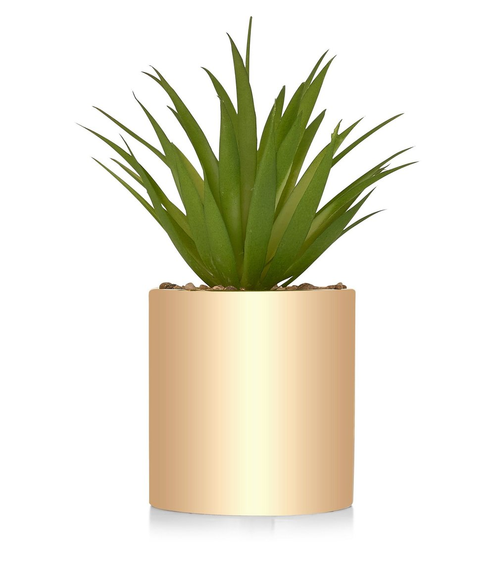 New Look Metallic Potted Plant £6.99