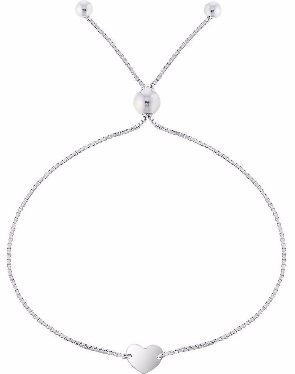 Silver Heart Bracelet at Ernest Jones