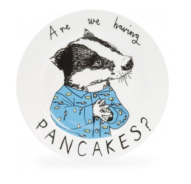 ARE WE HAVING PANCAKES SIDE PLATE LIBERTY £25.00