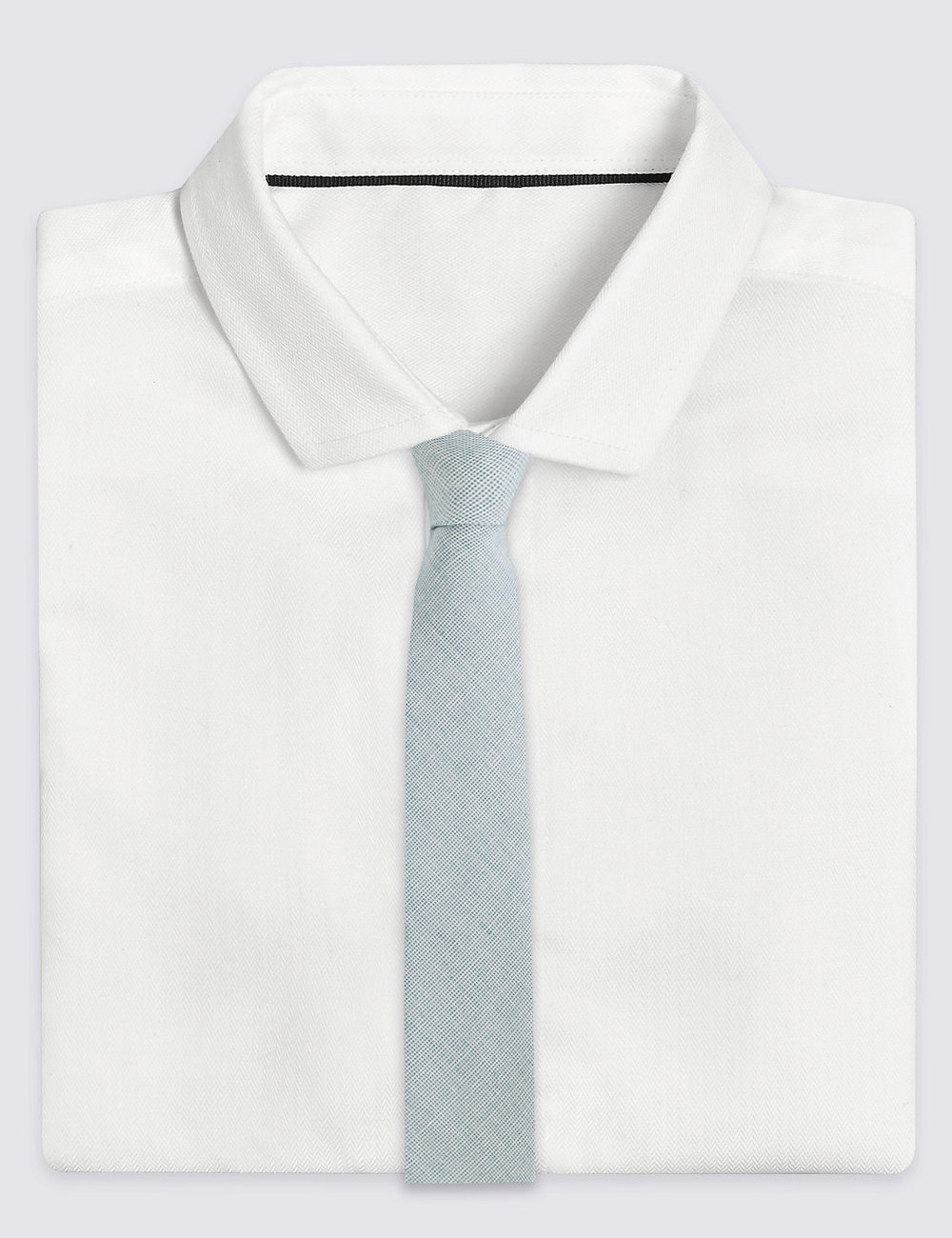 Cotton Rich Chambray Tie at M&S