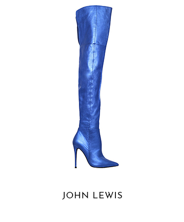 Kurt Geiger blue boots at John Lewis