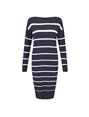 JIGSAW  Striped knit dress