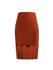 MATCHES FASHION  Chloe Silk Skirt