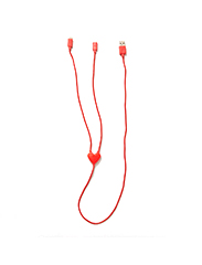 URBAN OUTFITTERS  Dual Heart Lightning Cable