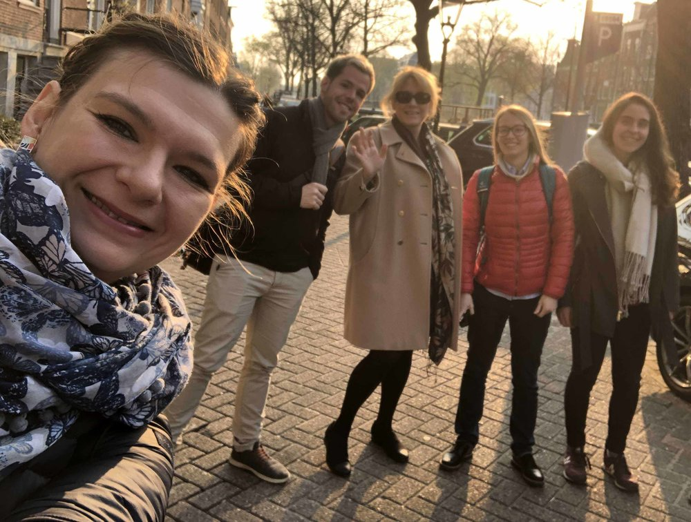 Urban Sharing team is exploring the city infrastructure of Amsterdam.