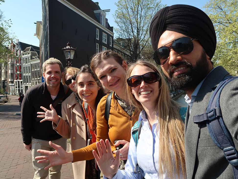 The Urban Sharing team (left to right) Steven Curtis, Oksana Mont, Ana Maria Arbelaez Velez, Yuliya Voytenko-Palgan, Lucie Zvolska and Jagdeep Singh on their way to a clothes sharing library LENA.