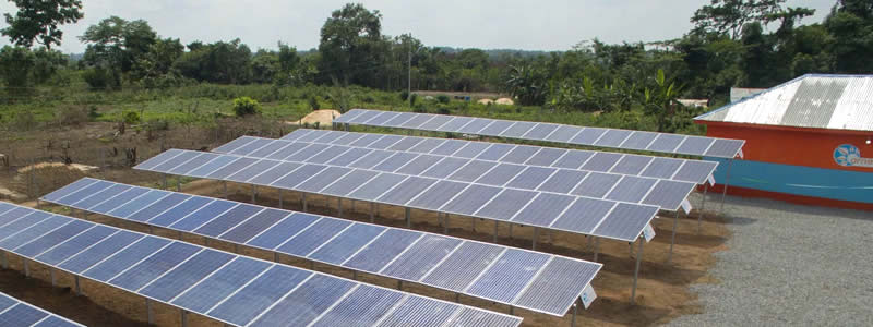 A mini solar grid installed in Edo state, Nigeria by Arnergy. (Arnergy)