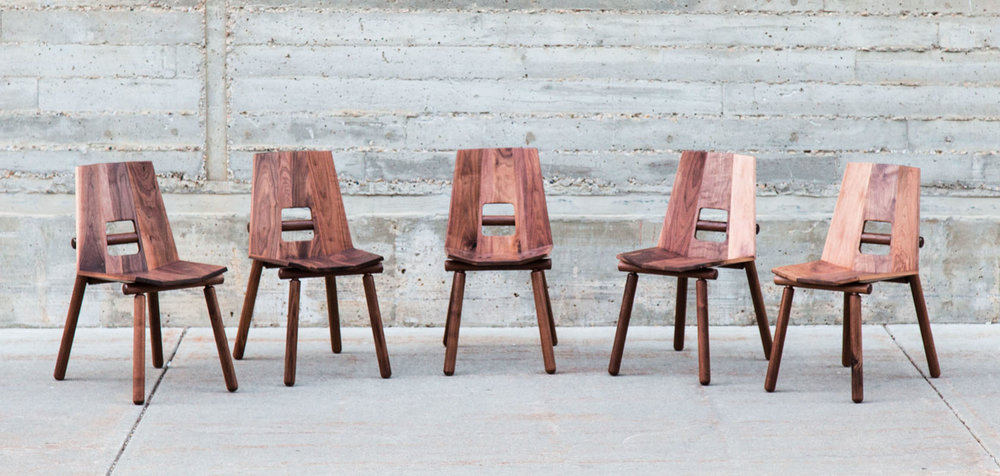 CUB. SOLID WOOD DINING CHAIR