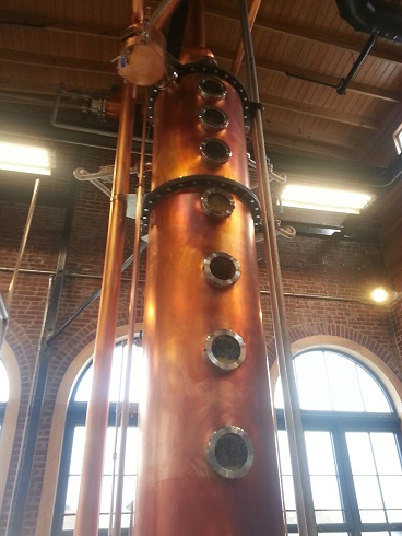 Isn't she a beauty? The Column Still at Angel's Envy Distillery (Louisville, KY)