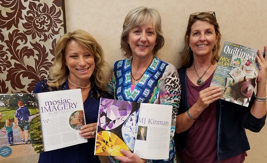 Me in the middle, surrounded by amazing talent -- Heidi Proffetty (on the left) and Libby Williamson (on the right).