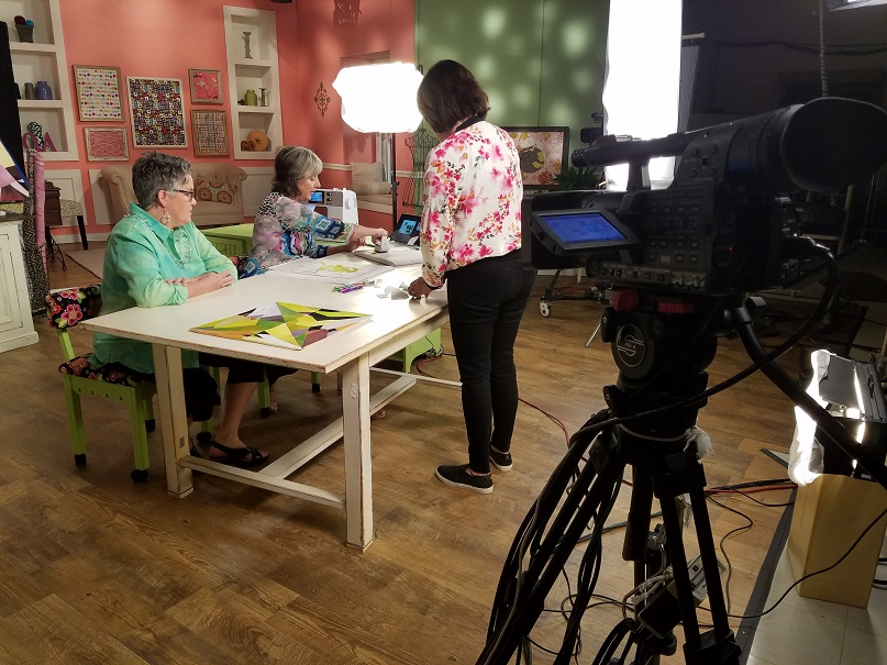 Talking with Susan Brubaker Knapp (host of  Quilting Arts TV)  and Kathie Stull (Owner of KS Productions) about the steps involved with  Bite-Sized Gems