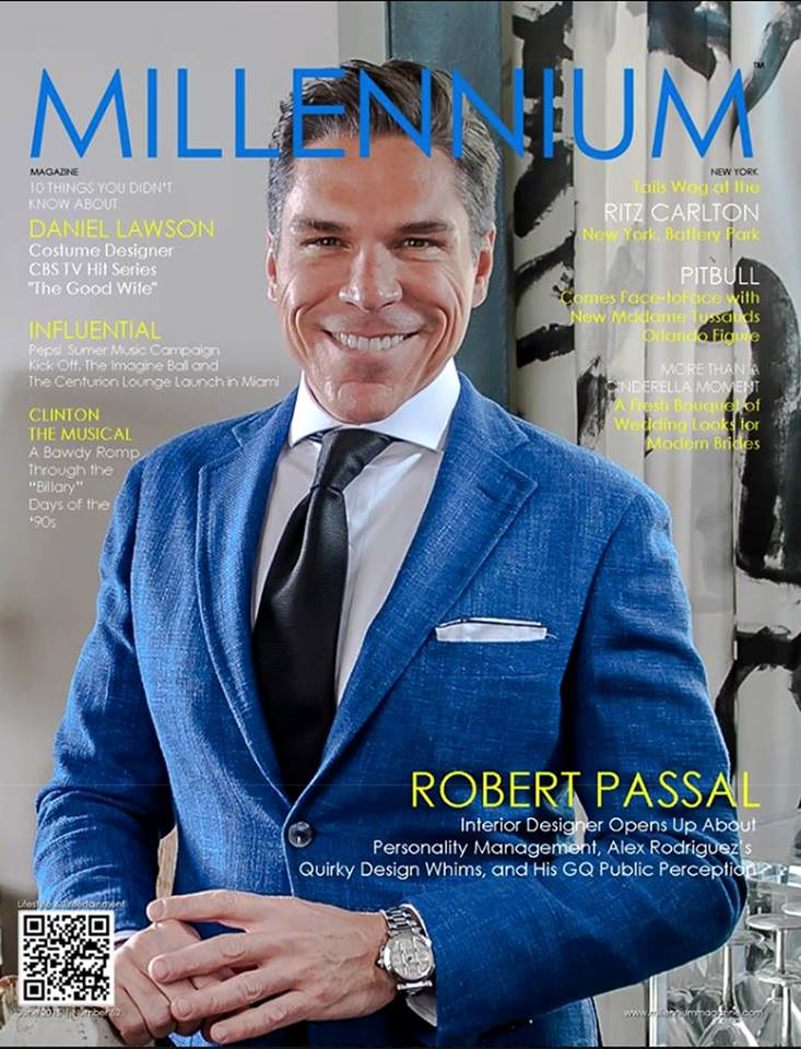 Designerlebrity Robert Passal Millenium Cover Shot Taken by Alan Barry