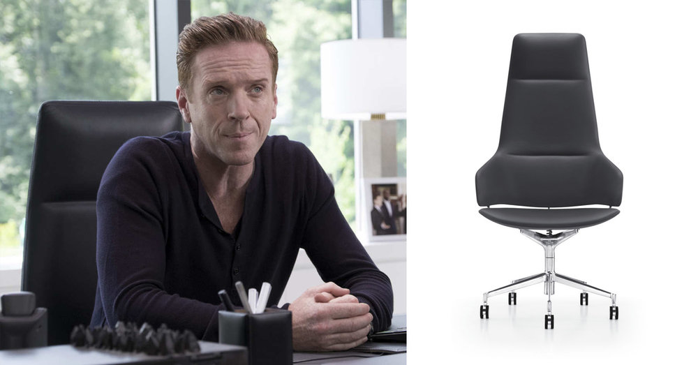 "Scene from Showtime's  Billions ,  ""Aston Executive Chair "" designed by Jean-Marie Massaud"