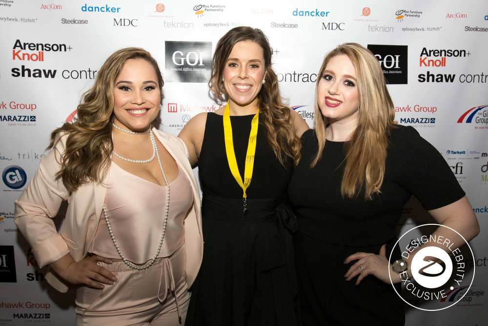 Cynthia Sarria, Erin Pollex and Renee Parenteau (Left to Right)