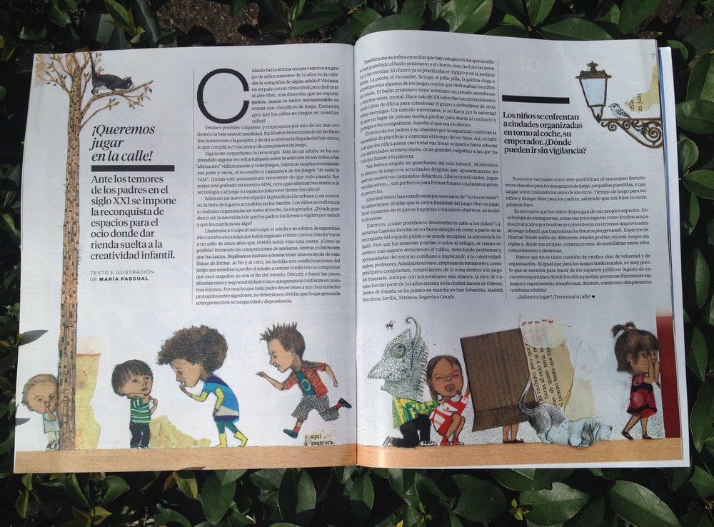 """Artículo para El País Semana, """"¡Queremos jugar en la calle!"""""""