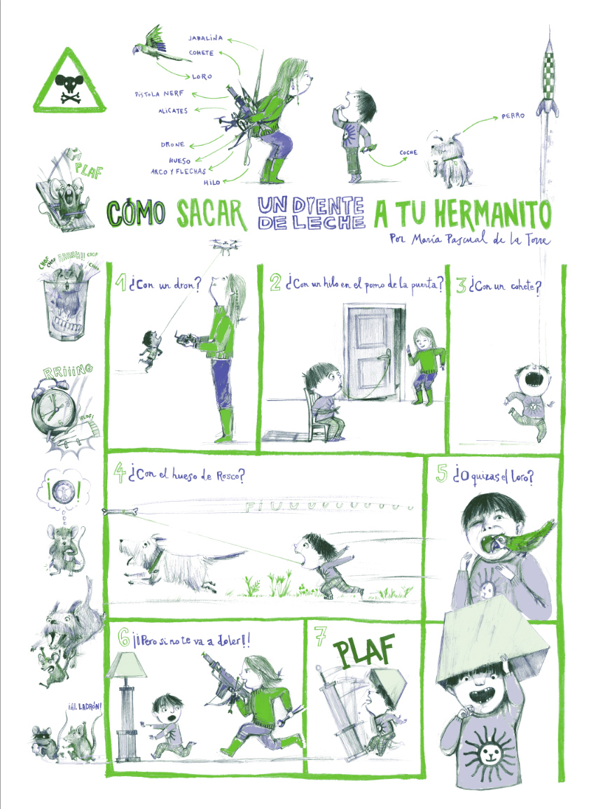 "Cómic para la Revista ""La Leche"" Número 3."