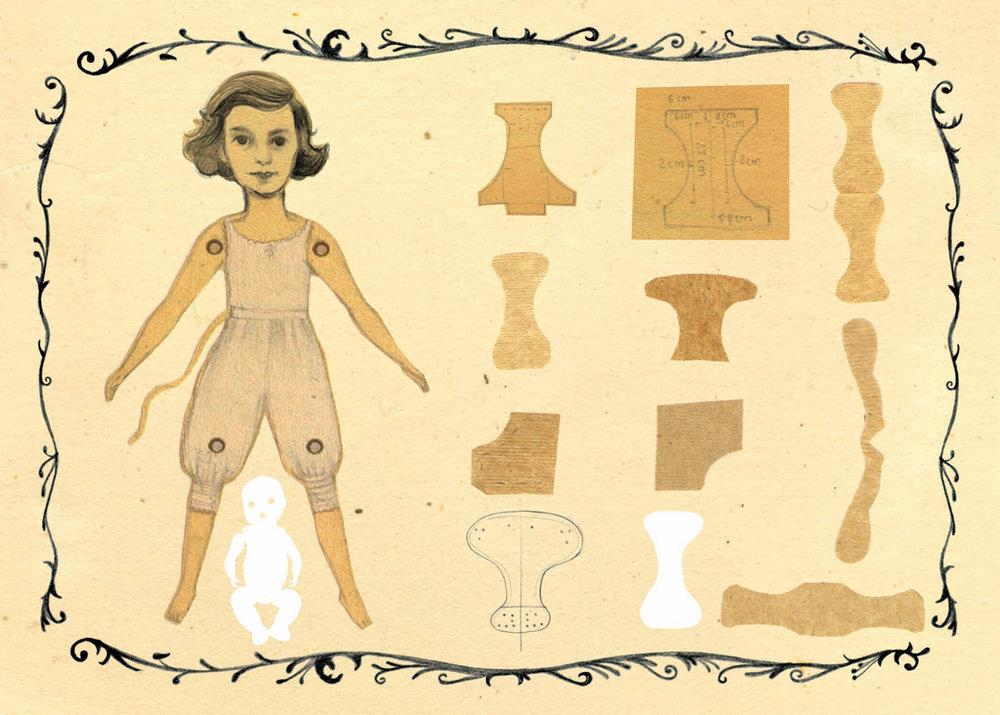 Ilustración del texto de Laura Escuela para el proyecto Atrapalabras.