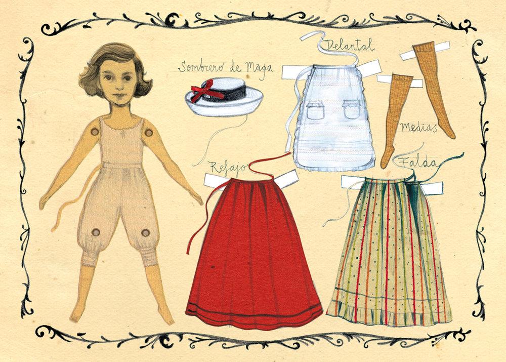 Ilustración del texto de Laura Escuela para el proyecto Atrapalabras