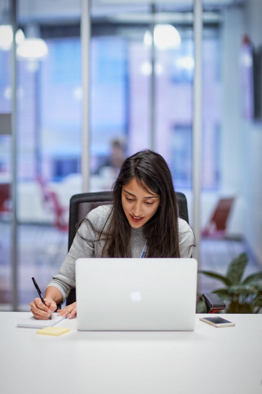 Anzish Mirza, student at Northwestern University in Qatar, at U.S. News and World Report in Washington, D.C.