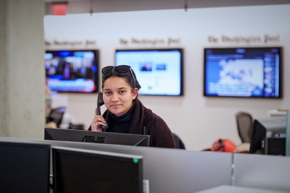 Jia Naqvi, student at Northwestern University in Qatar, interning at the Washington Post in Washington, D.C.